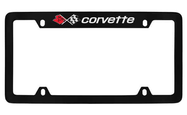 Chevrolet Corvette C3 Chrome Plated Metal Top Engraved License Plate Frame