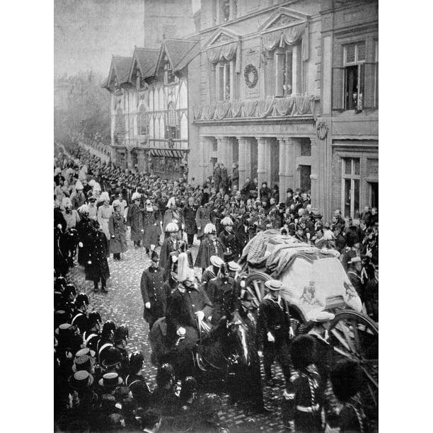 NPG P1700(56); Queen Victorias funeral procession