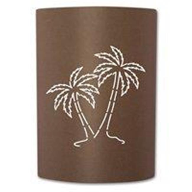Slip On Sconce PT-RT-008 Rust Palm Tree Sconce. Jelly jar light fixture included by Slip On Sconce