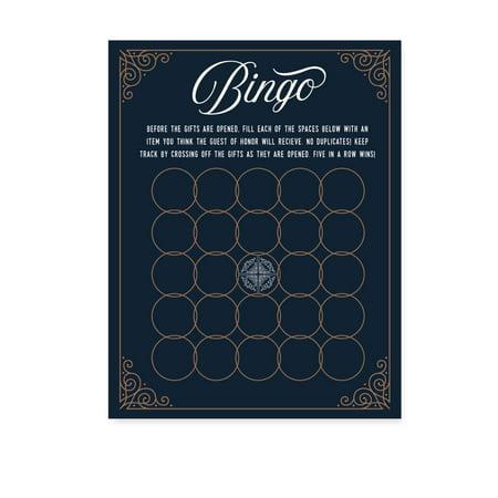 Navy Blue Art Deco Vintage Party Baby Shower,  Baby Bingo Game Cards, 20-Pack, Games](Halloween Party Deko Set)