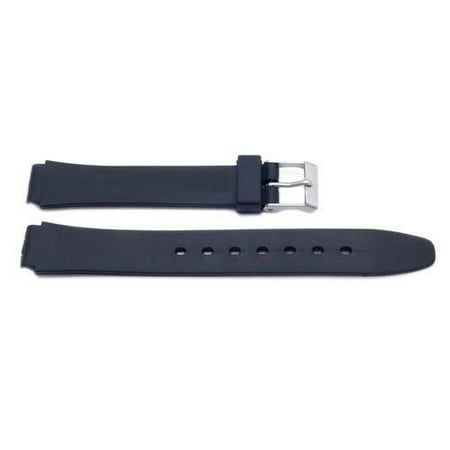 14mm Black Casio Style Ladies Plastic Watch Band 14mm Ladies Watch Band