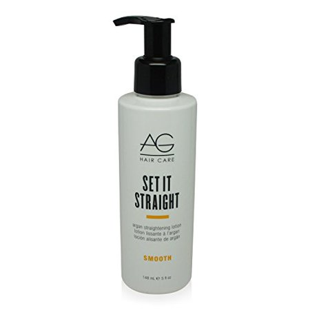 AG Hair Set It Straight Argan Straightening Lotion, 5 Fluid Ounce (Straightening Lotion)