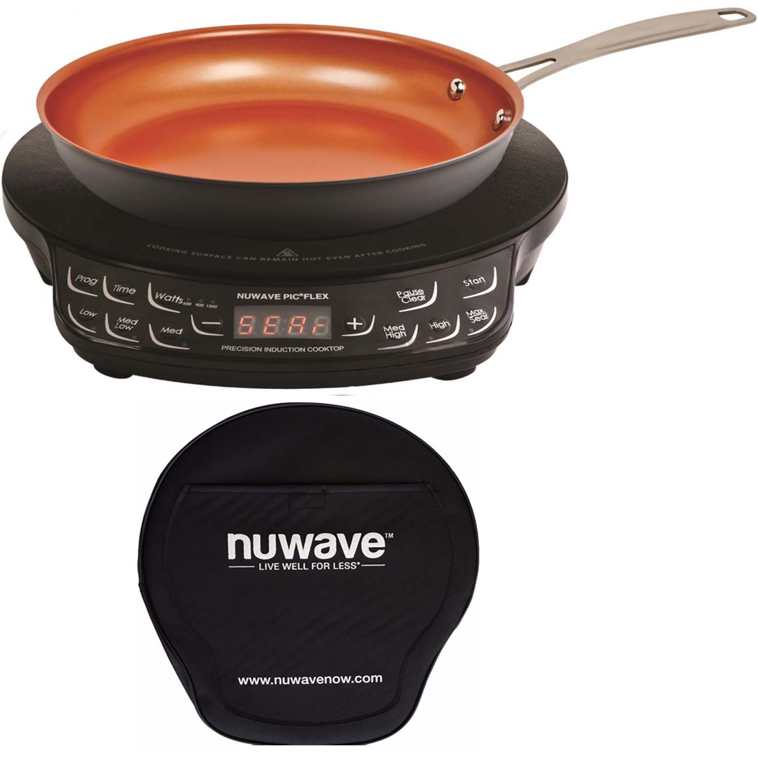 Nu-Wave PIC Compact Precision Induction Cooktop w/ 9-inch...