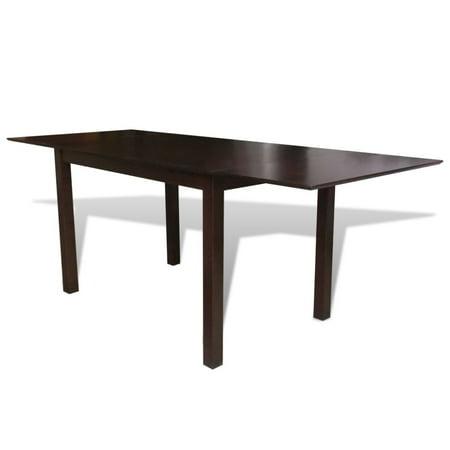 Vidaxl Solid Wood Brown Extending Dining Table 76 7