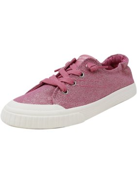 Tretorn Women's Meg 4 Glitter Cotton Twill Marino/Tretorn White/ Marino Ankle-High Fabric Fashion Sneaker - 9.5M
