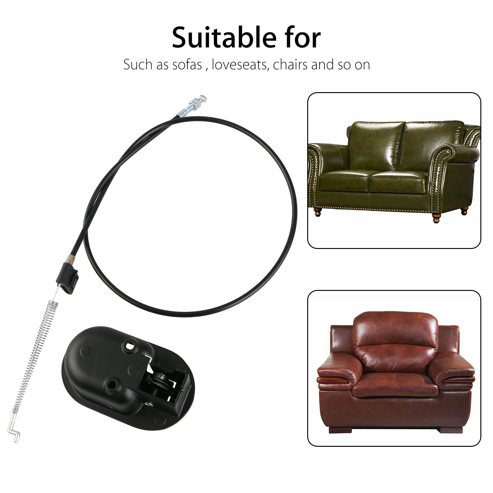 Picture of: Universal Plastic Sofa Chair Recliner Release Pull Handle Replacement Parts With Cable Fits For Ashley And Most Major Recliner Brands Sofa Exposed Cable Length 4 75 Total Length 36 Walmart Com Walmart Com