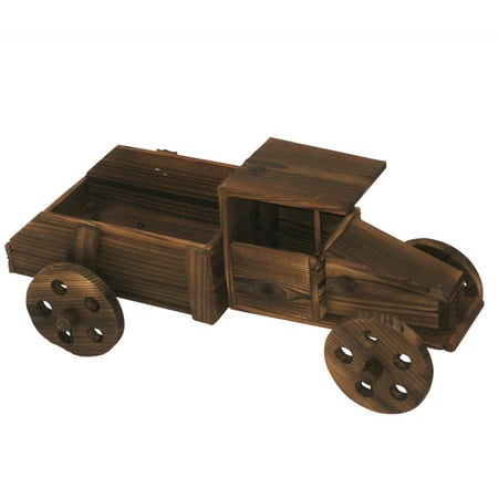 """Image of 11"""" Wooden Truck Planter"""