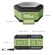 ZettaGuard ZS100 Portable Wireless Outdoor Shower Bluetooth 4.0 Speaker with IP67 Waterproof Function