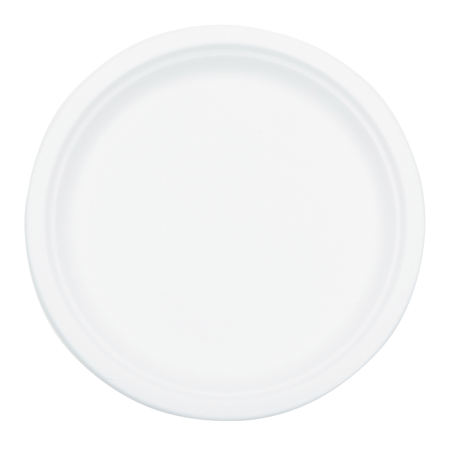 NatureHouse Compostable Sugarcane Bagasse 10 in Plate Round, White, 50/Pack