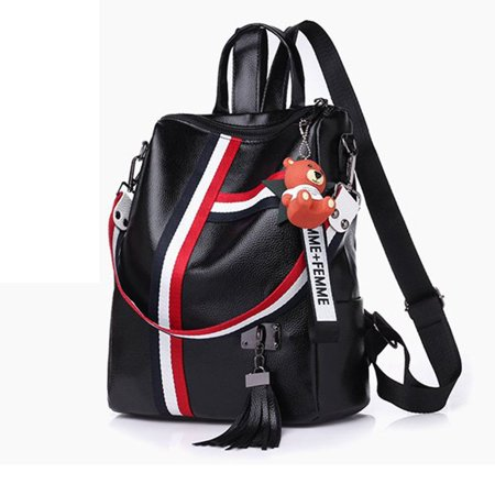 Korean Fashion Casual Dual-Use Bag Small Fresh Soft Leather Women'S Backpack - image 9 de 10
