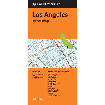 Los angeles california - folded map: 9780528008771