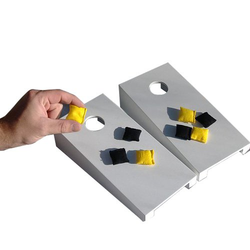 White Tabletop Cornhole Set