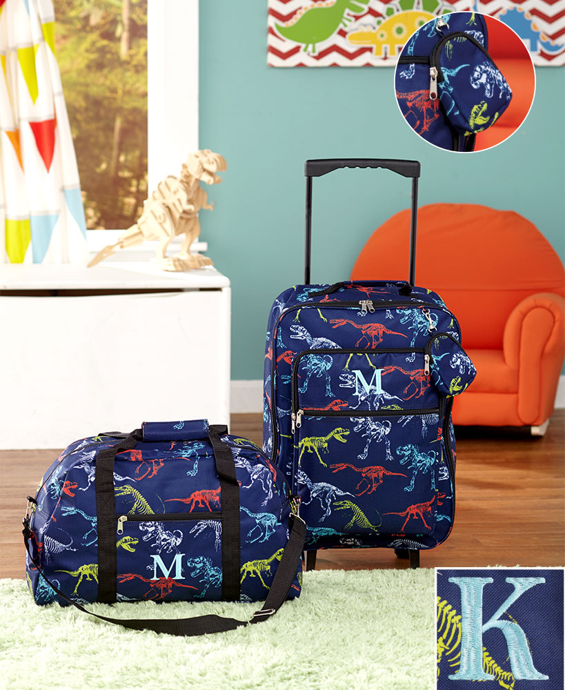 3-Pc. Boys' Monogram Luggage Set K