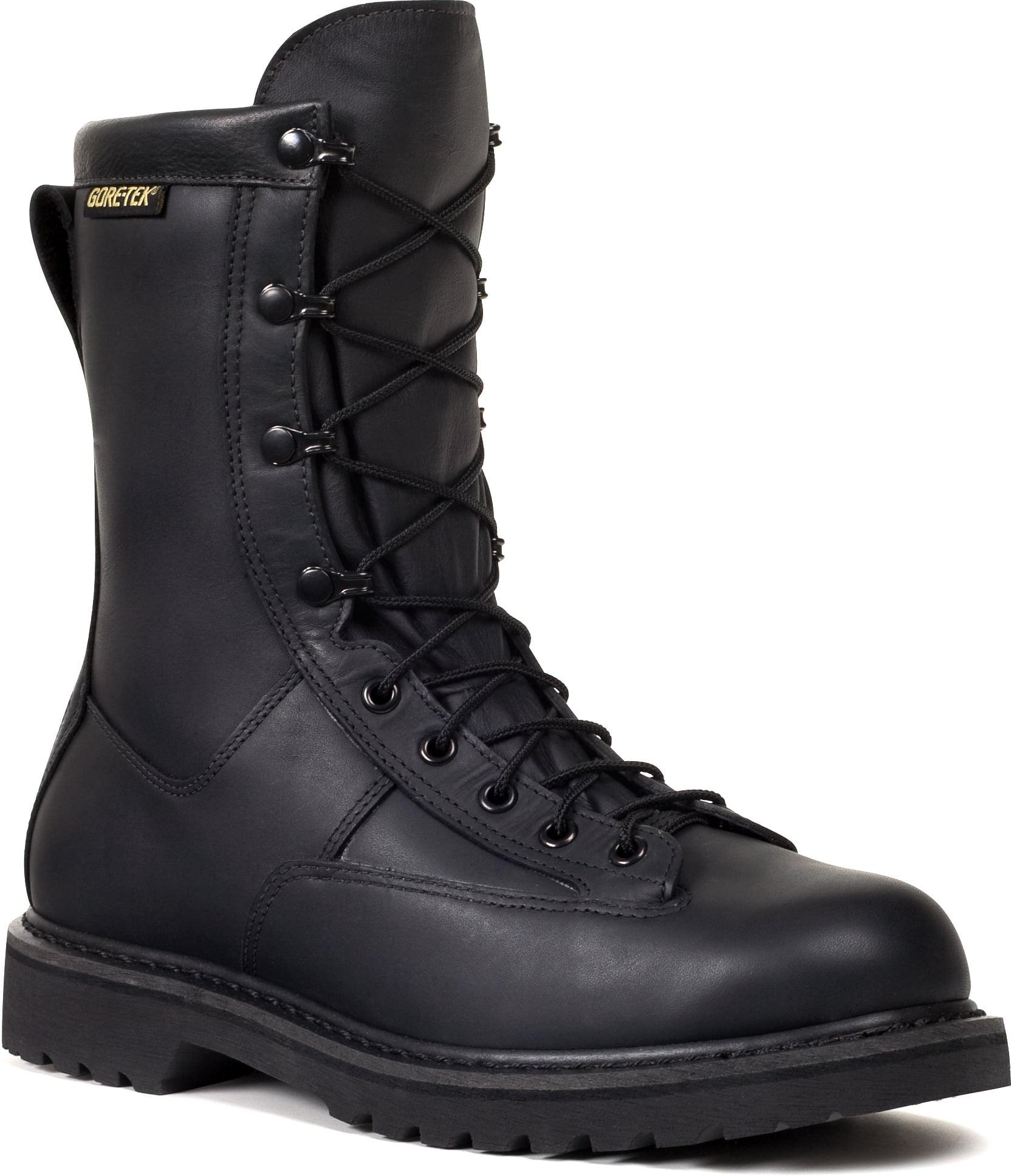 Boots Black Leather 3.5 EW - Walmart