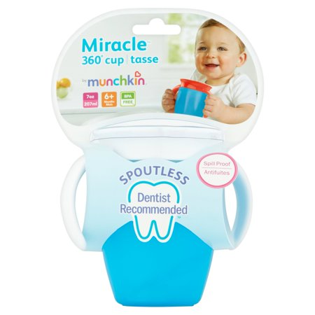Munchkin Miracle 360 Trainer Cup, Green/Blue, 7 Ounce, 2 Count - image 1 of 5