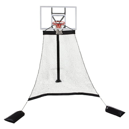 Goalrilla Basketball Hoop Return System Great for Solo Play or Free-Throw Practice and Compatible with Most In Ground Hoops (Automatic Ball Return)