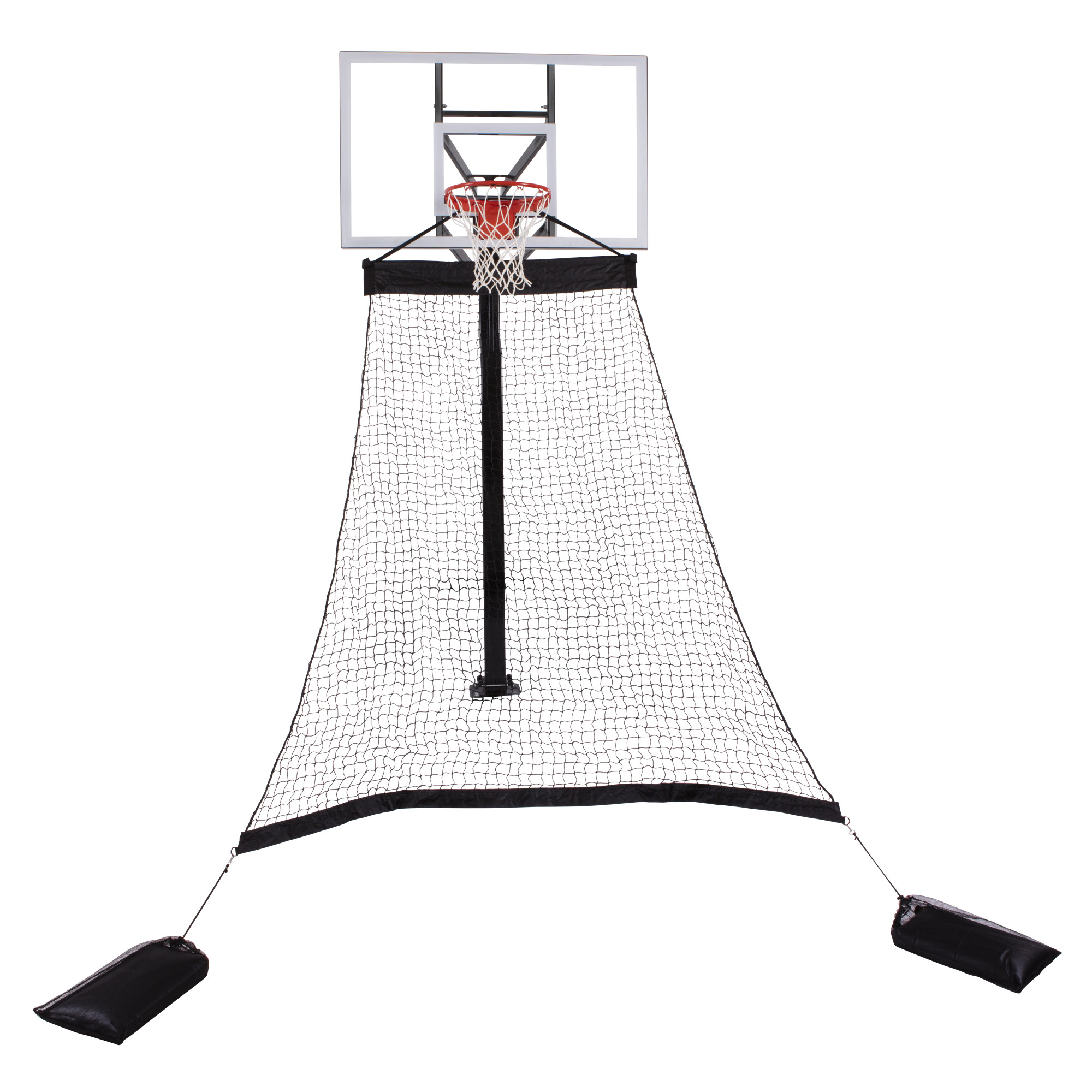 Goalrilla Basketball Hoop Return System Great for Solo Play or Free-Throw Practice and Compatible with Most In Ground Hoops