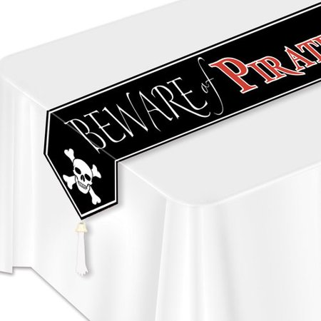 The Beistle Company Printed Beware of Pirates Table Runner