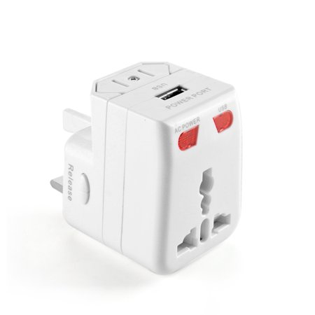 International Worldwide Travel Power Plug Adapter All In One Universal Wall Charger Converter With Usb Charging Port Au Uk Us Eu Ac Adaptor
