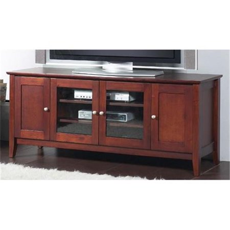 Alpine Furniture CC-29 Costa TV Console, Medium Cherry – 25 x 19 x 58 inch