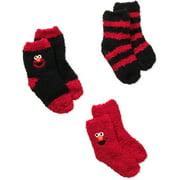 Elmo Baby Toddler Boy Quarter Softee Socks - 3 Pack