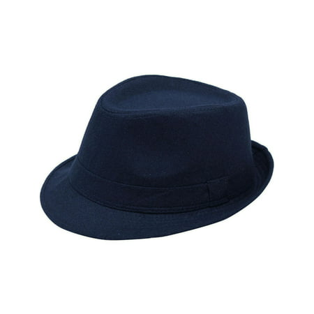 9bc56cf14 Men's Manhattan Fedora Hat Designed Navy Color Hat
