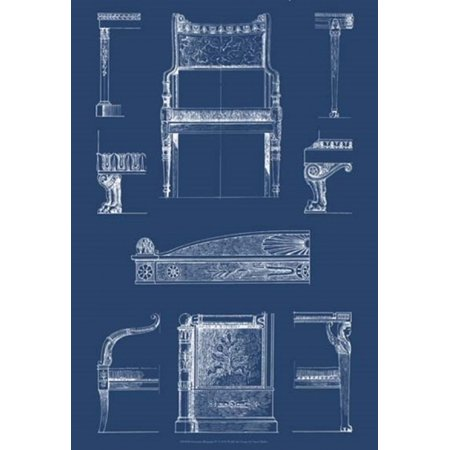 Furniture Blueprint Iv Poster Print By Vision Studio 13 X 19