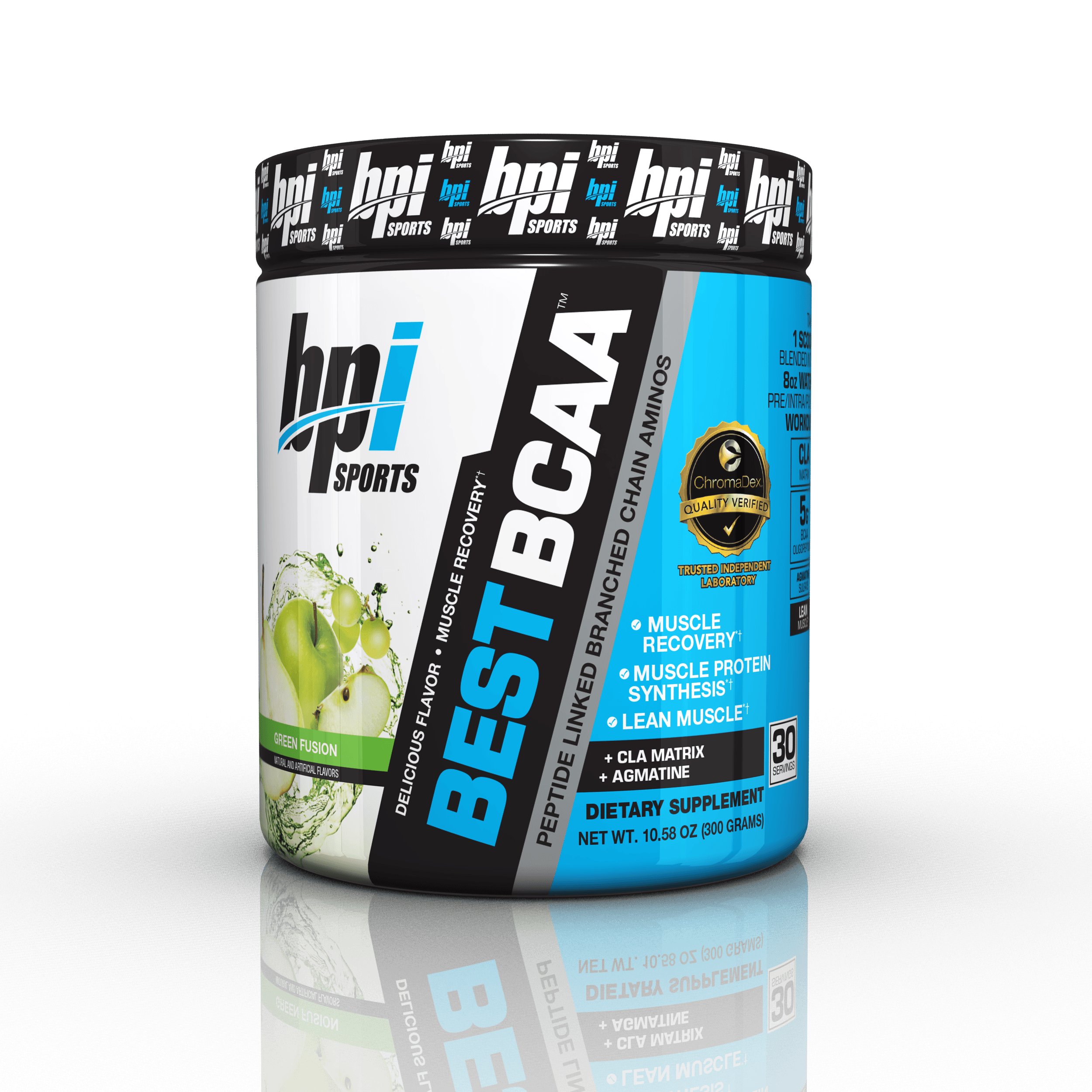 BPI Sports Best BCAA Powder, Green Fusion, 30 Servings