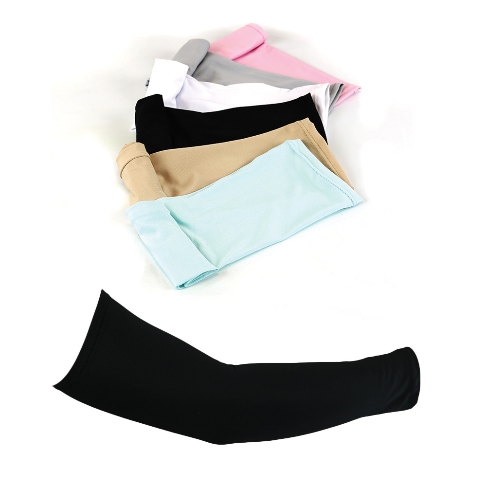 The Elixir Golf 6 Pairs of UV Protective Compression Arm Sleeves for Bike, Hiking, Golf (White, Black, Gray, Beige, Sky Blue, Pink)