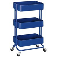 Kingfisher Lane 3 Tier Serving Cart in Glossy al Blue