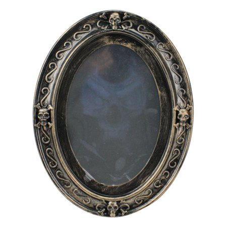 Vintage Style Motion Sensor Haunted Halloween Mirror, 13-Inch - Motion Sensor Halloween Decorations Uk