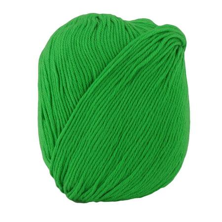 Acrylic Fiber Hat Scarf Handicraft Gift Knitting Needle Weaving Yarn Green (Rug Yarn Punch Needle)