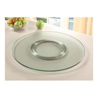 Chintaly Imports Lazy Susan, Clear, Glass