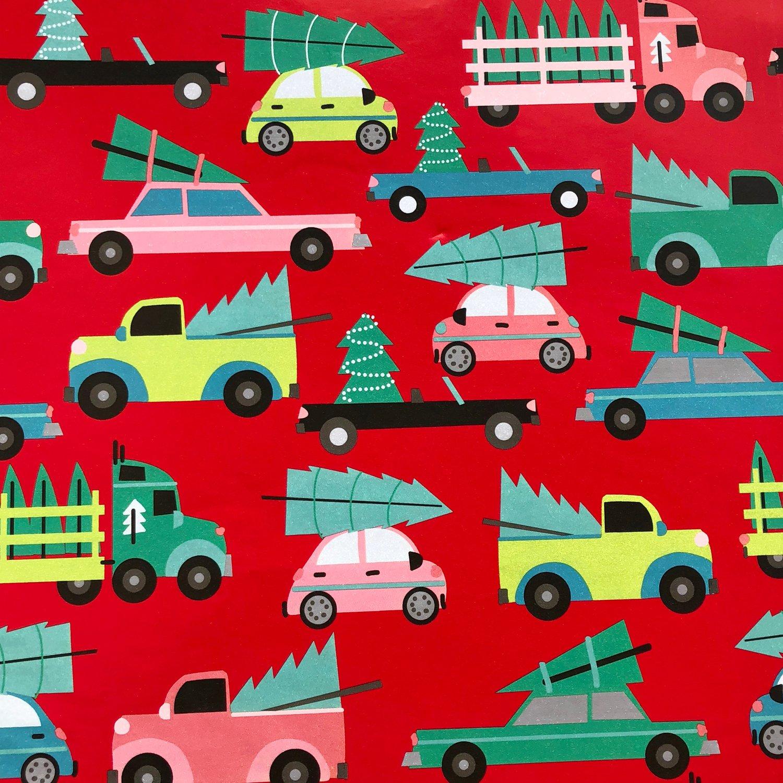 """Jillson & Roberts Bulk Gift Wrap, Family Tree, Full Ream 833' x 30"""""""