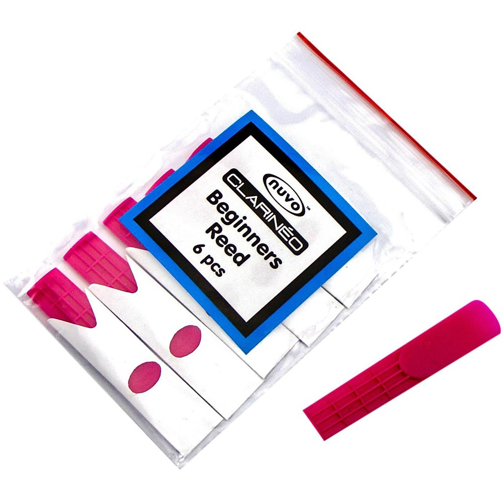 Nuvo Clarineo Plastic Reed (6-Pack) Colors Pink