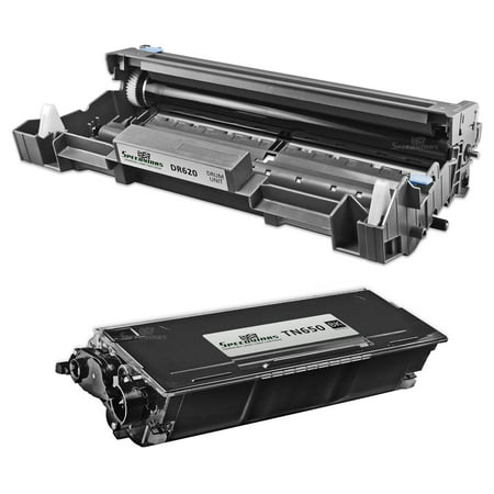 SpeedyInks - Compatible Brother TN580 TN-580 Toner DR-520 DR520 Drum Set 1 Toner 1 Drum for use in HL-5240 5250 5280 5250DN 5250DNT 5280DW 5200 5240LT 5250DNHY 5250DNLT 5270DN 5280DWLT (Tn580 Compatible Toner)