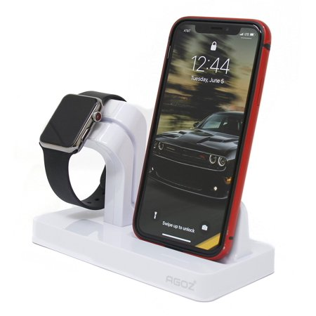 online store d7c6d ca778 White Charging Dock Stand Station Charger Holder For Apple Watch iWatch  Series 4 3 2 1, iPhone XS Max /XS/ XR / X ,iPhone 8 Plus, iPhone 8, iPhone  7 ...