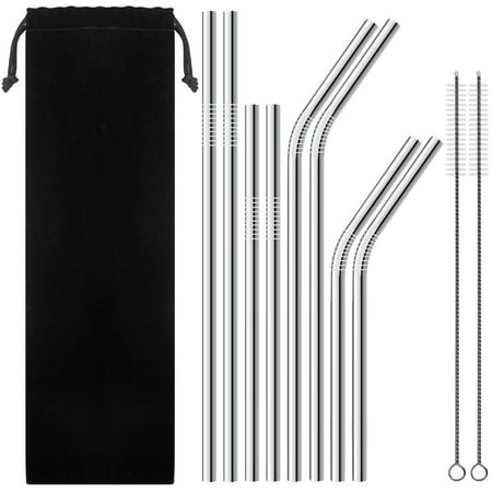 6d996800a0a SOFT INC Stainless Steel Straws, Set of 8 Stainless Steel Metal Straws Yeti  Straws for 30 Oz Tumbler, Ultra Long 10.5 Inch Reusable Straws For ...