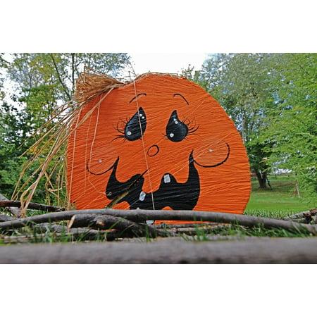 Halloween Decoration Art (Framed Art for Your Wall Pumpkin Jack-o-Lantern Decoration Party Halloween 10x13)
