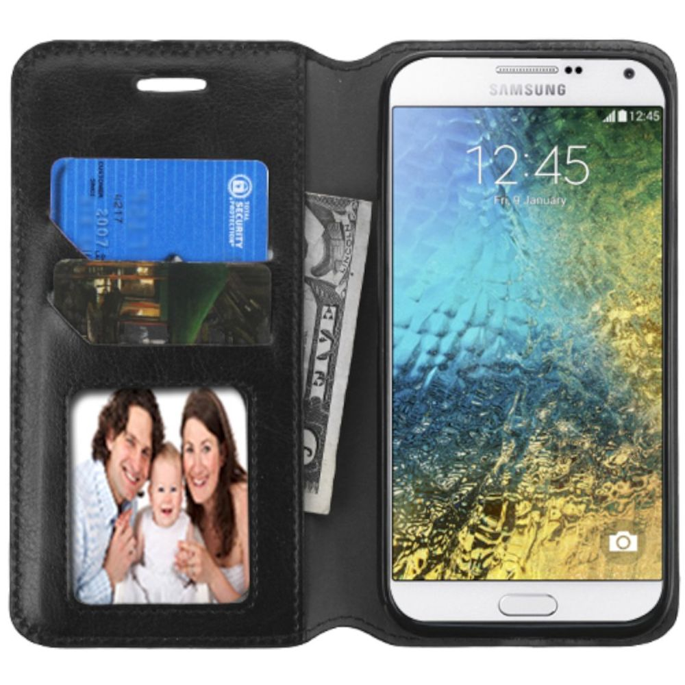 Samsung Galaxy E5 Phone Case By Insten Folio Leather W Stand Card Holder Photo Display Diamond For