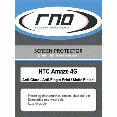 RND Accessories 3 Screen Protector Anti-Fingerprint & Anti-Glare With Lint Cleaning Cloths For HTC Amaze 4G- Matte