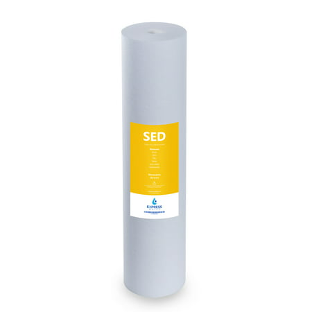"""Express Water – Sediment Replacement Filter – SED Dirt, Sand, Rust High Capacity Water Filter – Whole House Filtration – 5 Micron – 4.5"""" x 20"""" inch 5 Micron Magic Filtration"""