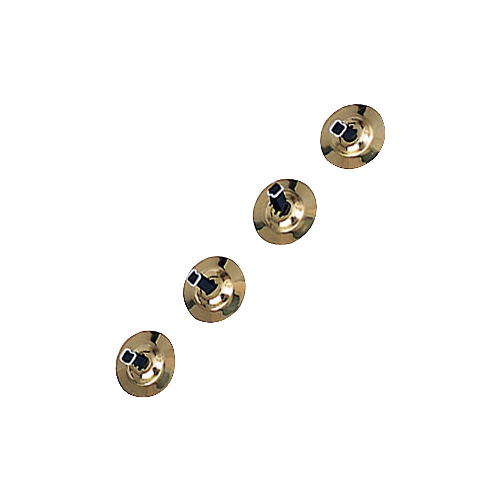Rhythm Band Brass Cymbals with Knobs Finger Cymbals, Two Pair With Straps by Rhythm Band