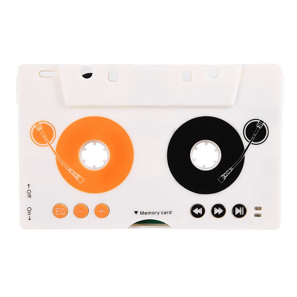 Car Kit Stereo Cassette Tape SD MMC Mp3 Player Adapter with Remote Control Cassette Adapter