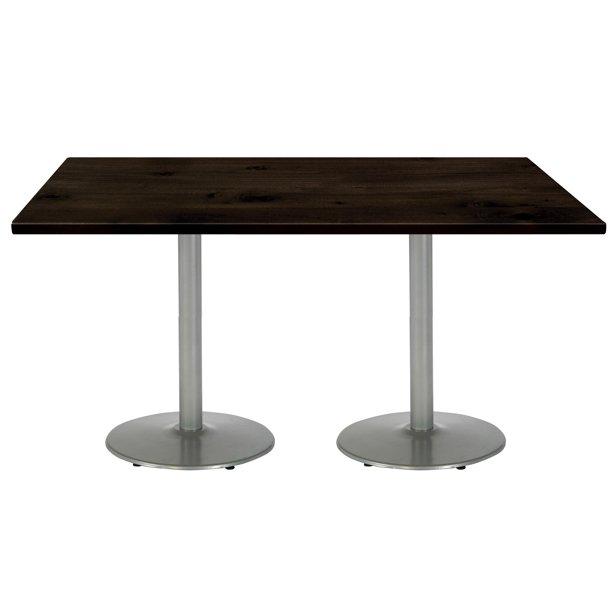 Kfi Studios Urban Loft 6 X 3 Dining Table Espresso Silver Base Walmart Com Walmart Com