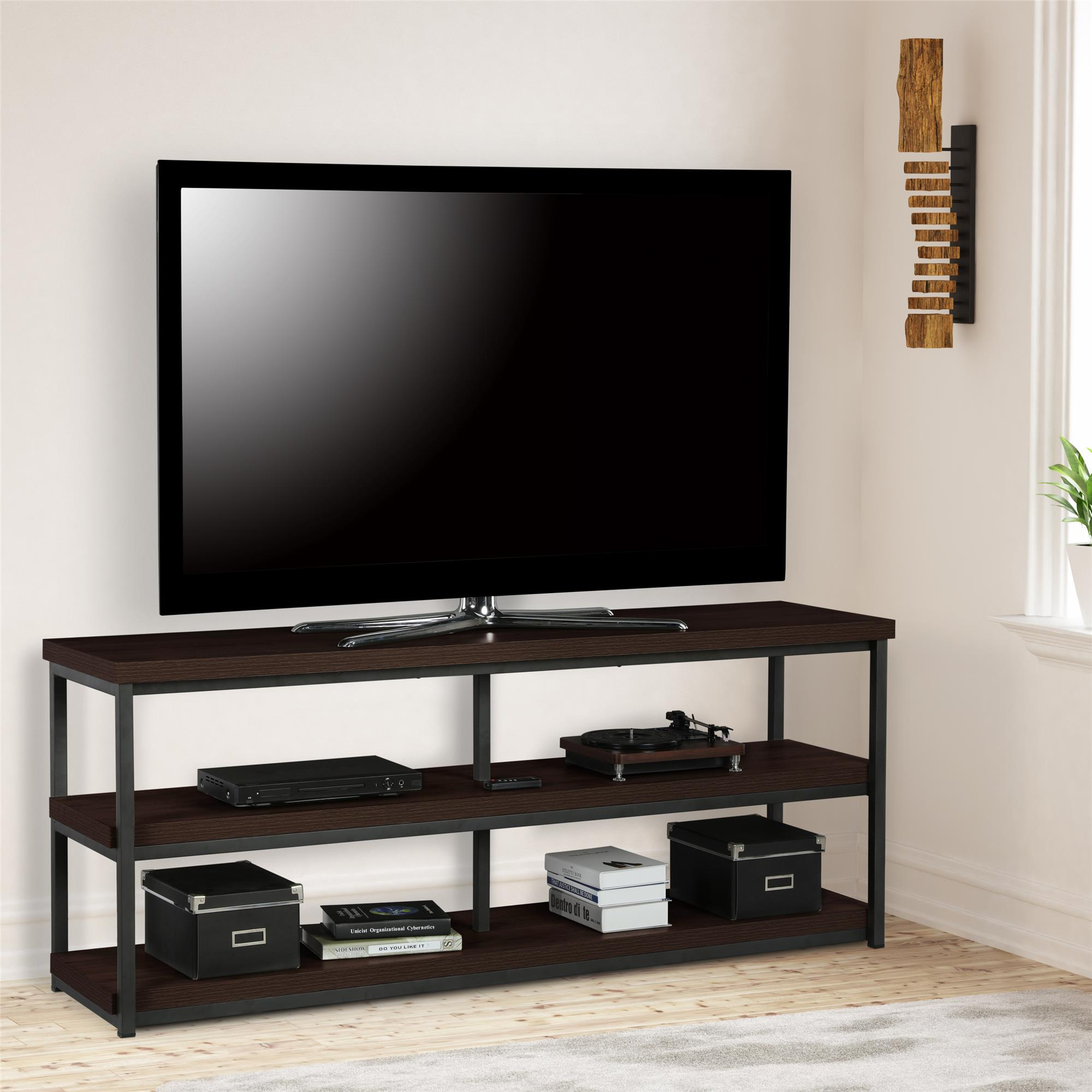 """Mainstays TV Stand for TVs up to 65"""", Multiple Finishes"""