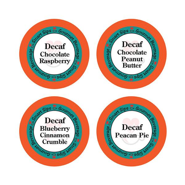 Decaf Flavored Coffee Variety Sampler Pack, for Keurig K-cup Machines, 24 Count, Decaf Chocolate Peanut Butter, Decaf Blueberry C
