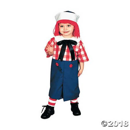 UHC Raggedy Andy Doll Toddler Kids Child Outfit Fancy Dress Halloween Costume, 2T-4T - Raggedy Andy Costume Toddler
