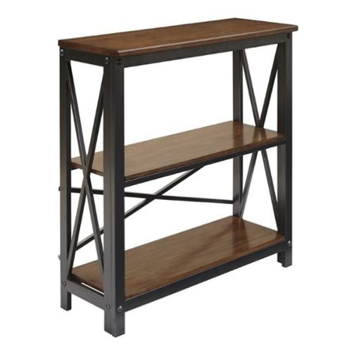 Ashley Shayneville 3 Tier Medium Bookcase in Rustic Brown