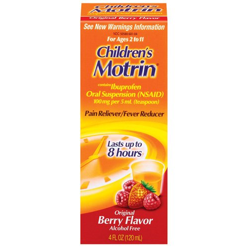 Children's Motrin Original Berry Flavor Ibuprofen Oral Suspension, 4 fl oz